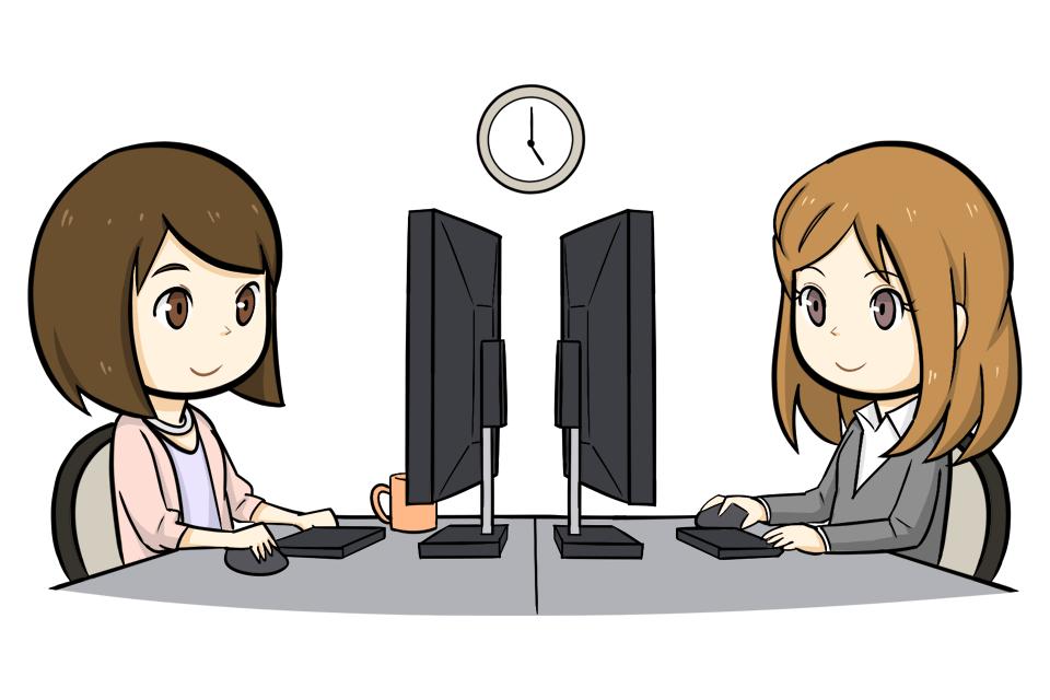 事務職として働く女性