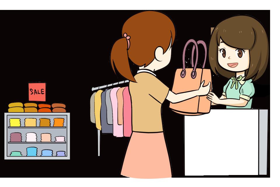 販売スタッフの女性