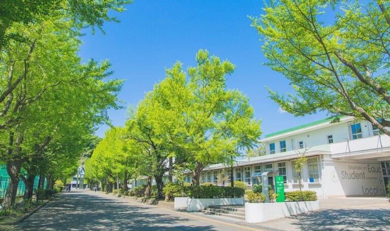 横浜市立大学のキャンパスの様子